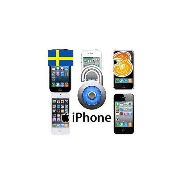 tre mobil låsa upp