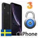 """Tre """"3"""" - iPhone XR Upplåsning"""